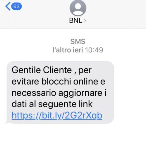 SMS Truffa